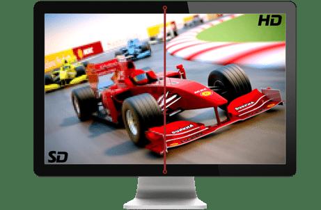 różne jakości obrazu HD vs SD